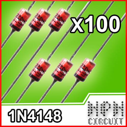 100x 1n4148 diodo fast switcing 100V 0.2A 100 pezzi