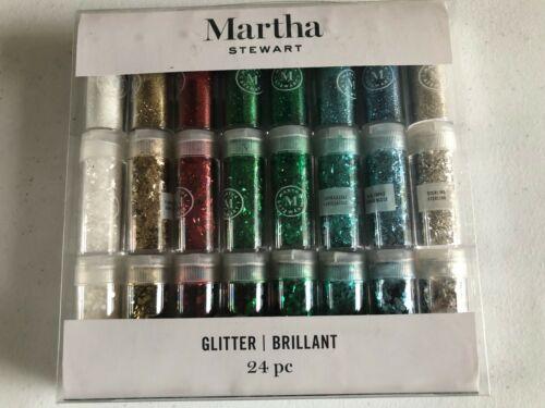 NEW MARTHA STEWART FINE Chunky Tinsel GLITTER BRILLIANT 24 PC 0.34 OZ EACH