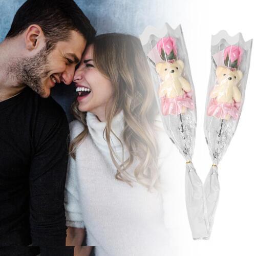 Bear Rose Flower Soap Valentines Gifts Cartoon Bouquet Dolls Party Wedding Decor