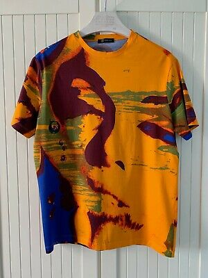 Made in Italy Versace Mens Marilyn Monroe Short Sleeve T-shirt Orange