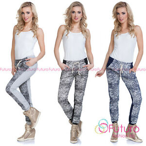 Mujer-Deporte-Pantalones-Con-Bolsillos-Baile-Callejero-Pantalon-De-Chandal-2173