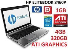 HP ELITEBOOK 8460P CORE i5 2ND GEN I 4GB RAM I 320GB HDD I 1GB ATI GRAPHICS I