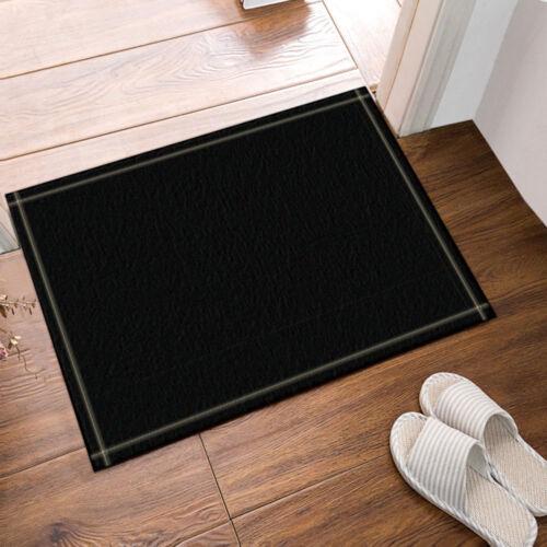 "Dark Black Pure Color Shower Curtain Bathroom Waterproof Fabric /& Hooks 70*70/"""