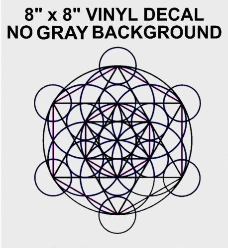 Merkaba Sacred Geometry Vinyl Decal Sticker Kabbalah Math Merkaba