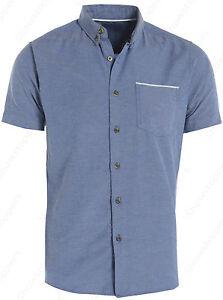 hombre-de-diseno-desgaste-camisa-oxford-Camiseta-Polo-Talla-Ch-M-G-EG-manga