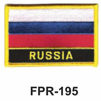 2-1/2'' X 3-1/2 Russia Flag Embroidered Patch