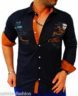 Men's Zahida Long Sleeve Shirt Spandex Club Slim-fit Yachting Designer New