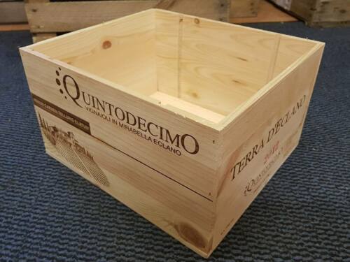3 x ITALIAN WOODEN WINE CRATES BOXES VINTAGE SHABBY CHIC DRAWERS STORAGE/>