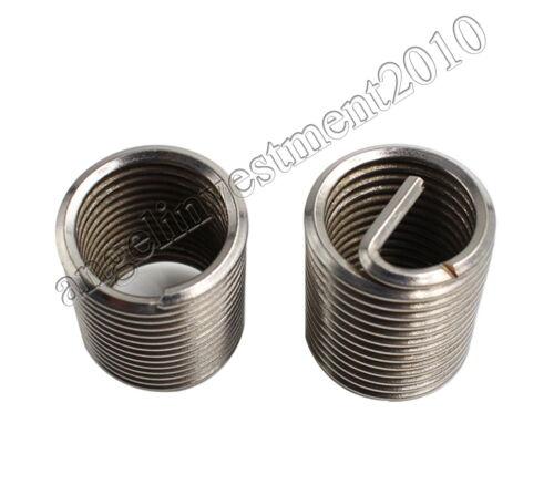 100pcs M8*1.25 2.5D insert length helicoil Stainless Steel Screw Thread insert