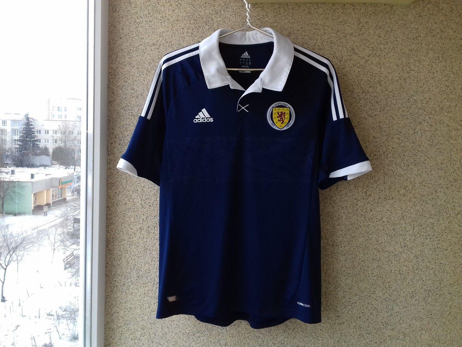 low priced 65c1f e2ce9 Scotland 2012 2013 2014 Adidas Jersey Home football shirt L Soccer Camiseta