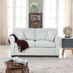 Image Is Loading Small E Beige Loveseat Sofa Comfortable Fabric Living