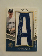 2009 SP Authentic By The Letter Roy Halladay Toronto Blue Jays Auto
