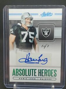 2020-Panini-Absolute-Heroes-Howie-Long-1-of-1-Auto