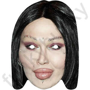 All Our Masks Are Pre-Cut! Pink Celebrity Singer Card Mask