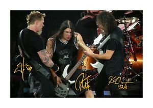 Metallica-3-A4-signed-picture-photograph-poster-Choice-of-frame