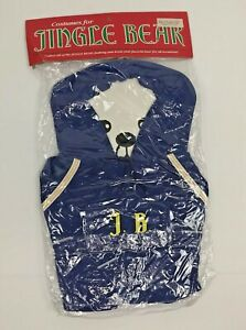 Vintage-034-NIP-034-Costume-for-Jingle-Bear-Blue-White-Yellow-Hoodie-and-Shorts