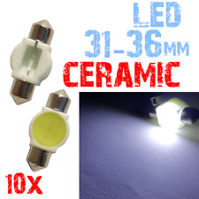 10 Bollen Festoen 31/36mm LED CERAMICS Wit Licht Car Number Plate 12V 2A9 2C1.10