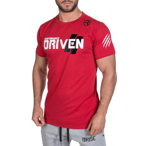 Men/'s Gym Muscle Bodybuilding Cotton Sport Fit Muscle Fitness Summer T-shirt Tee