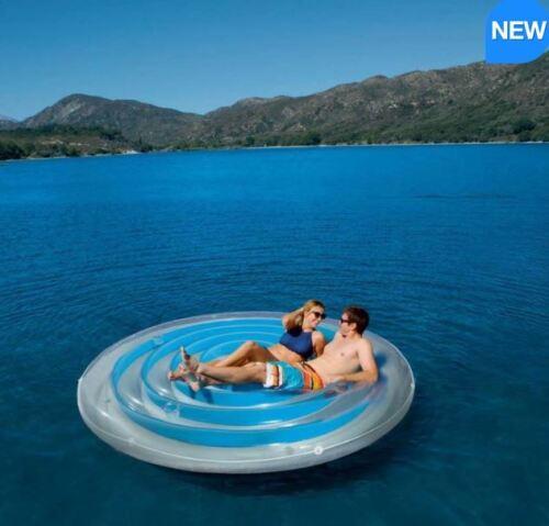 "BESTWAY Coolerz H20GO 8 FT ca. 2.44 m 4/"" 254 cm Aqua Blue Isola Galleggiante Float Lilo Lettino Solare"