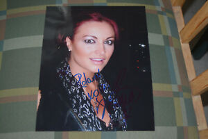 MARIA KANELLIS  signed Autogramm 20x25 In Person WWE WRESTLING
