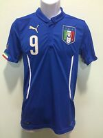Italy Jersey Puma Authentic Balotelli Blue Home Diferent Men Size Fast Shipping