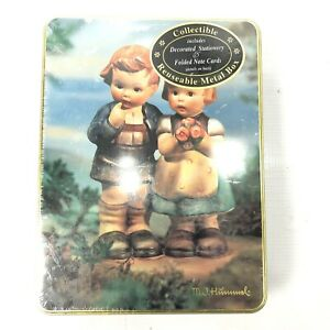 M-J-HUMMEL-Stationary-in-a-Collectible-Metal-Tin-Vintage-1995-Sealed-NEW