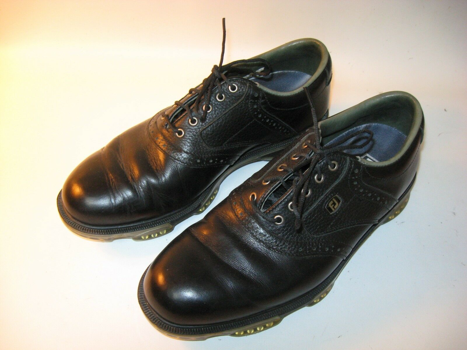 Footjoy Dryjoys Tour silla de Negro montar de cuero Negro de para Hombre Zapatos De Golf-EE. UU. 9 M e64da2