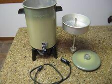 Vintage Mirro-Matic 22 Cup Avocado Green Coffee Percolator Maker Pot M-9294-37