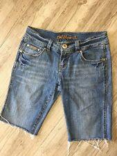 Bubblegum Women's Denim Cut Off Stretch Jean Shorts 9/10 Studs and Rhinestones