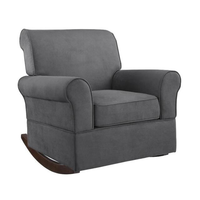Fine Baby Relax The Mackenzie Microfiber Plush Nursery Rocker Chair Grey 2Day Ship Cjindustries Chair Design For Home Cjindustriesco