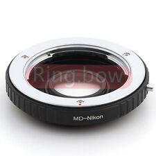 Minolta MD To Nikon Infinity Lens Adapter D3200 D7000 D7100 D750 D800 With Glass
