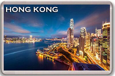 HONG KONG SKYSCRAPERS FRIDGE MAGNET SOUVENIR IMAN NEVERA
