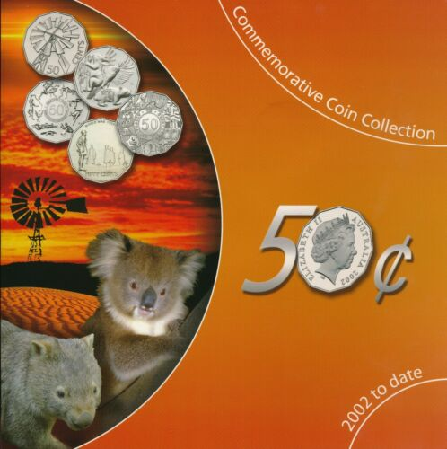 Australia 2002 to Date  50 Cents 50c Coin Collection UNC Coins Sherwood