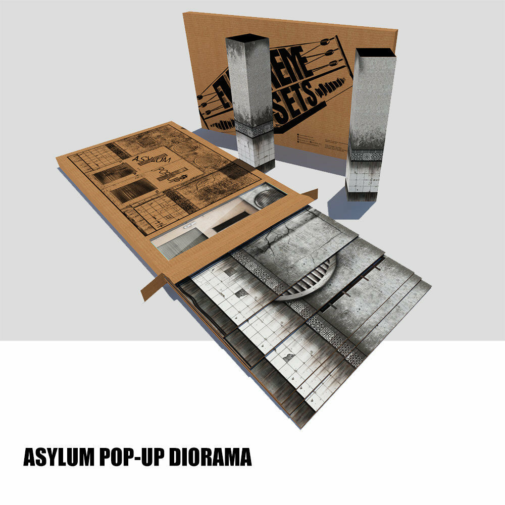 Extreme Sets Asylum Pop-Up S4 Diorama  for 1/12, 6-7 inch scale figures NEW