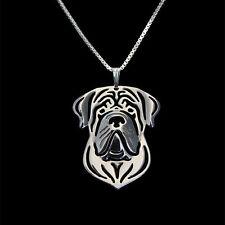 ❤️ Halskette mit Anhänger English Mastiff, Hundekopf pendant, necklace