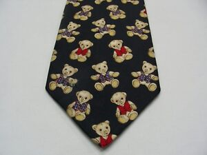 TEDDY BEARS - MARKS   SPENCER - 100% SILK - MADE IN UK - NOVELTY ... 22344ce7a