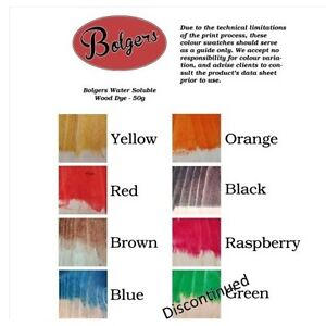 Bolgers Water Soluble Wood Dye Powder Make Your Own Wood