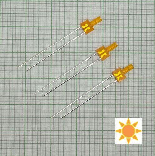 E127f + Widerstand 10 Stück Blink Led 2mm Orange diffus Blinklicht, flash