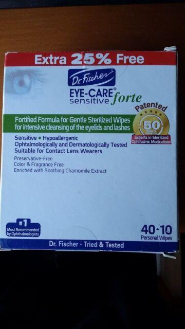 Eye Care Sensitive Forte eye wipes - 1 Pack x 40pcs Dr Fischer