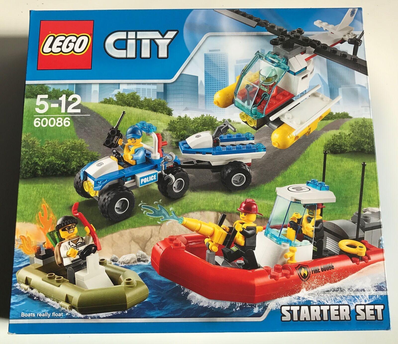 LEGO City Police 60086 LEGO City Starter Set-DIFFICILE DA TROVARE-Nuovo di zecca in pensione