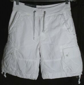 NWT-Polo-Ralph-Lauren-Men-039-s-Classic-Fit-Relaxed-White-Cotton-Cargo-Shorts-Sz-XS
