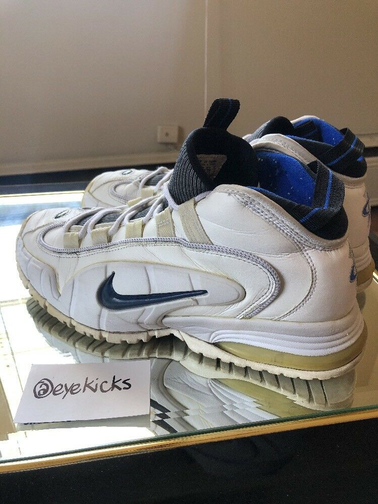 OG 1996 Nike Air Penny Max Home White/Royal Blue Size 13 Very RARE Vintage