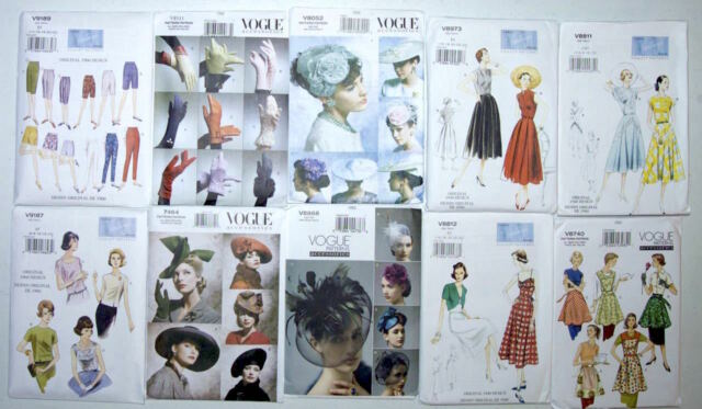 Vogue Vintage,Retro 1930 - 60's Hat /Gloves/Tops (NEW Pattern) Sold Separately