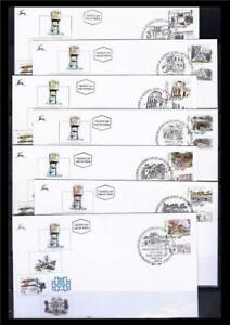 ISRAEL-STAMPS-2000-2001-2002-HISTORICAL-SITES-BUILDINGS-7-FDC