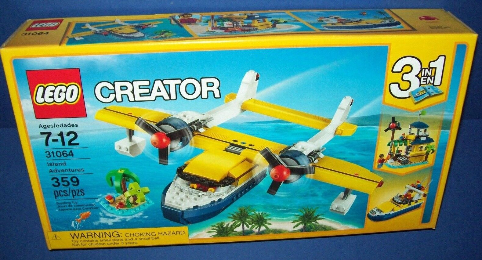 LEGO 31064 Creator ISLAND ADVENTURES 3 in 1 sea plane new in sealed box