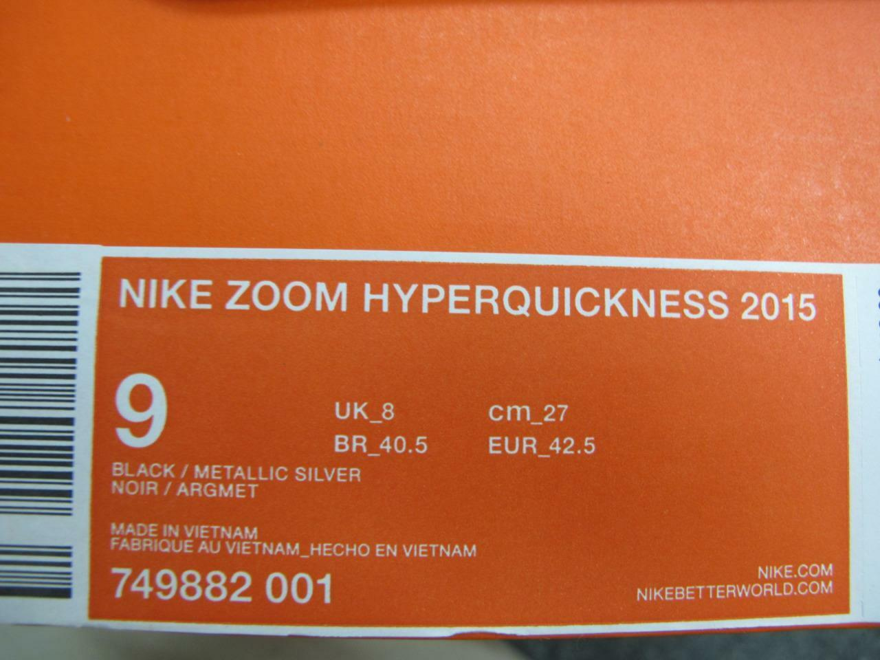 the best attitude 2493c 22194 ... NEW MEN S NIKE ZOOM HYPERQUICKNESS HYPERQUICKNESS HYPERQUICKNESS 2015  749882-001 f4979b
