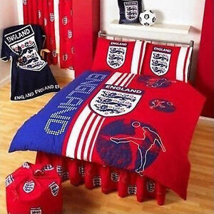 Official-England-FA-Scoreboard-RED-Double-Duvet-Cover-Bed-Set-amp-2-Pillowcases