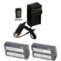2 Batteries + Charger For Panasonic Pv-dv602 Pv-dv701 Pv-dv702 Pv-dv800 Pv-dv851