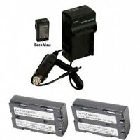 2 Batteries + Charger For Panasonic Pv-dv602 Pv-dv701 Pv-dv702 Pv-dv800 Pv-dv851