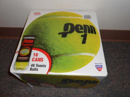 Fresh Stock NEW SLD 48 Penn Extra Duty Felt Championship TENNIS BALLS 16 X 3-Can